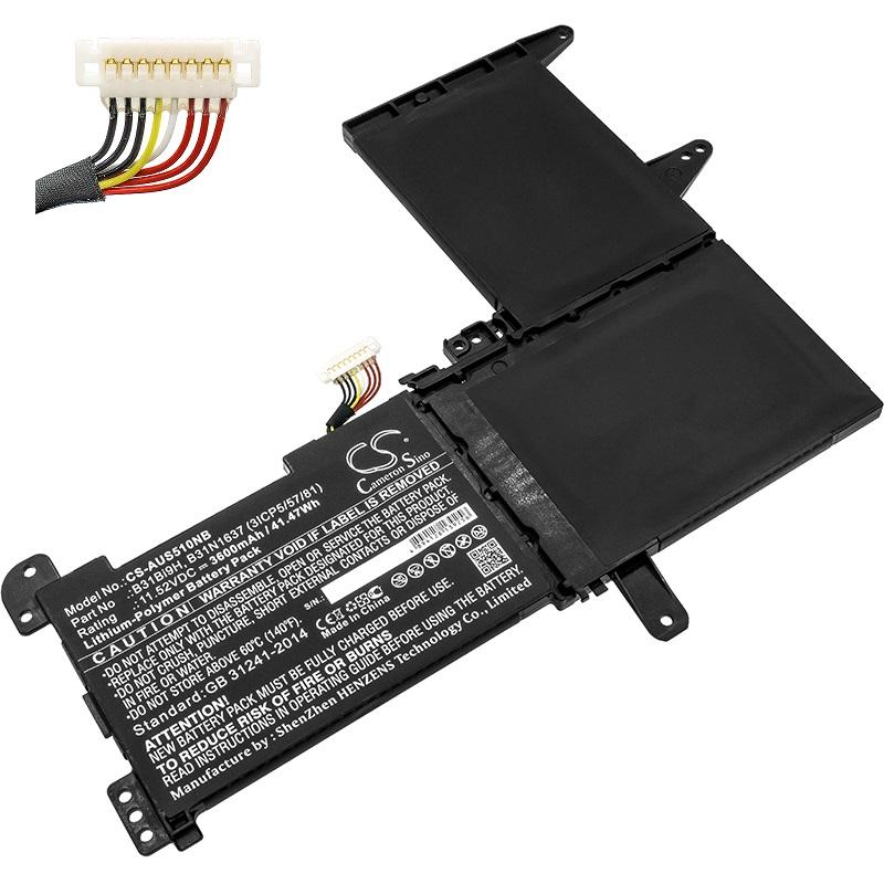 B31N1637 B31Bi9H Asus VivoBook X510 X510U X510UF X510UQ S510U kompatibelt batterier
